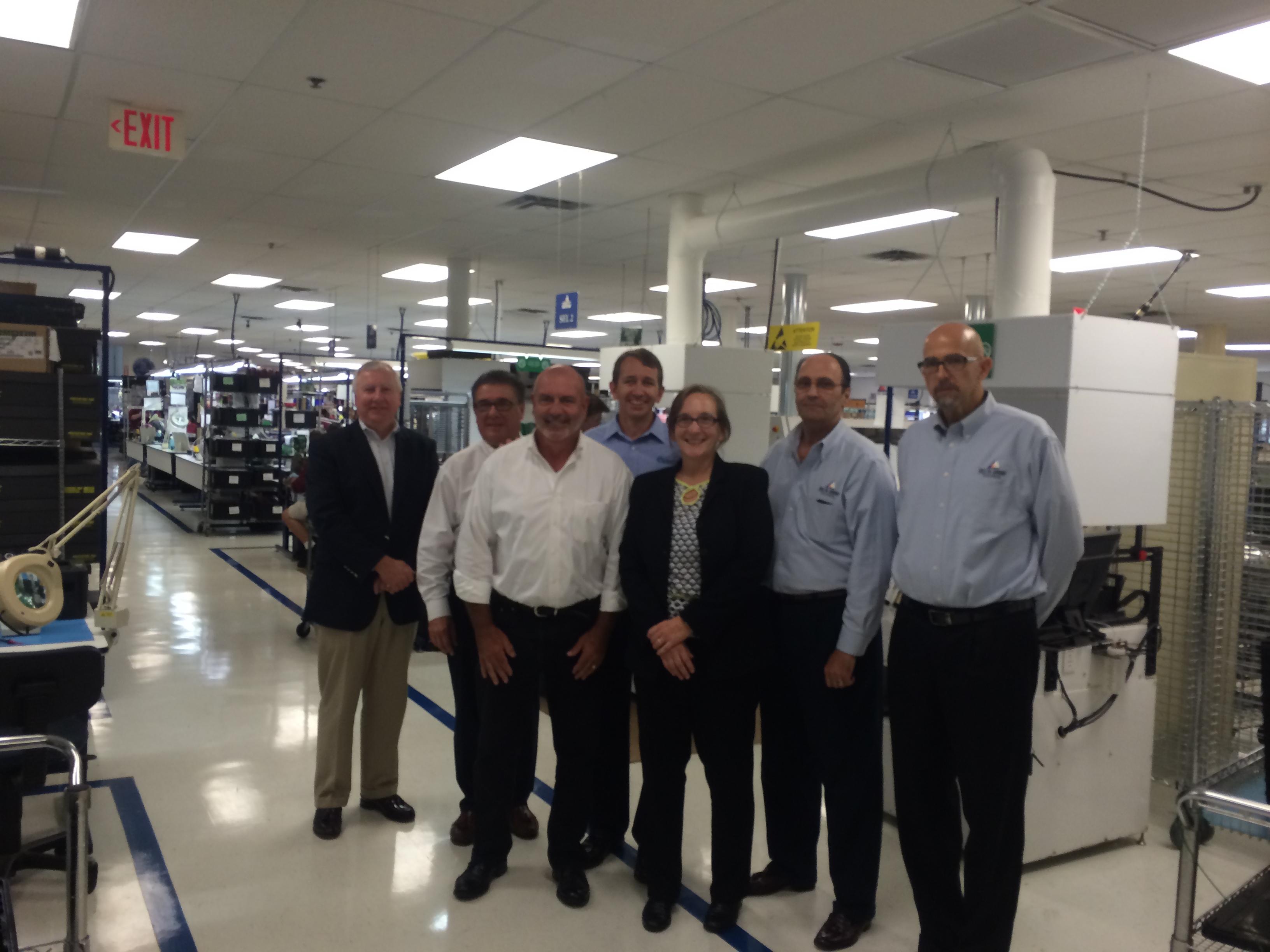 Delta Group CEO Harry Mueller, Ron Reef, Chris Gunn, Quantum CEO Mark Tinker, Cindy Drapcho, Zoran Jecmenica, Chris Brewer