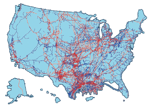 Pipeline White Paper - Map of oil pipelines in the us